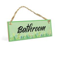 Gantungan Pintu BATHROOM WallDecor Quotes Poster Kayu 10x30