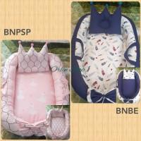 Babynest free bantal peang mahkota dengan tas mika / Baby nest