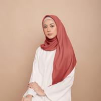 Hijab Wanita Plain Scarf Voal Diario Orange Series