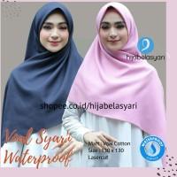 Hijab Jilbab Segi empat Syari Voal Miracle Waterproof Watersplash Azar