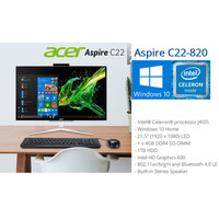 ACER PC ALL IN ONE C22-820 - DUALCORE J4105U 4GB HDD 1TB 21,5 FHD W10