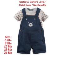 Setelan Overall Nextbluefly Carter's Carters Anak Bayi Laki Laki Bear