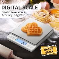 Timbangan Digital Kopi Emas Bumbu Dapur Platform Scale 2kg 0.1g Akurat