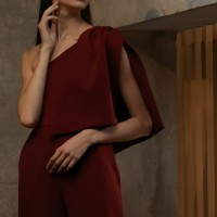 Claude jumpsuit Avery in red