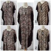 Daster/Longdress Kelelawar Jumbo Batik Cap Motif Sogan Hitam Kombinasi