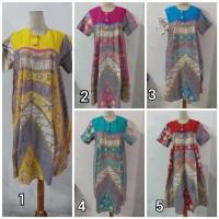 Daster/Longdress Batik Klok Warna Soft Kombinasi 2 Pakai Kancing