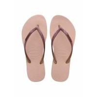 Sandal Wanita Havaianas Slim Glitter Fc 0076-Ballet Rose - 33-34