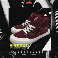 Sepatu Patrobas Equip High Maroon (Merah Maroon) - 37