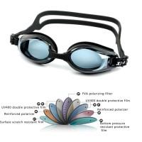 Swimming Coating Water Dioptric Swimming Goggles Glasses Myopia Swim - Hitam
