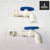 """Kran Tembok PVC Two Way 1/2 3/4"""" / Keran Air Taman Plastik 2 Way"""