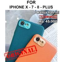 Case iPhone X - 7 - 8 - Plus hardcase casing hp cover CAMERA PROTECTOR - iPh X, Hitam