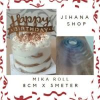 Plastik Mika Roll pinggiran cake 8cm x 5meter