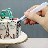 Decorating pen bake cake/puding