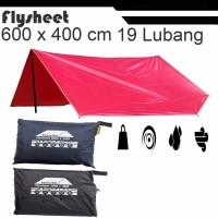 flysheet tenda 6 x 4 m