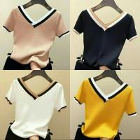 marie knit top 21 - atasan blouse wanita