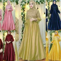 maxi brukat lawrencia 21 - gamis - pakaian muslim wanita