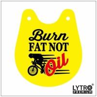 Bike Tag Sepeda - Burn Fat Not Oil - Gantungan Sadel Sepeda