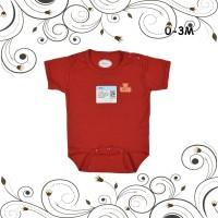 ID MIYO Baju Kodok Segitiga Jumper Bayi Baby Merah Newborn 0-3M Sleeps
