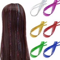 Holographic Sparkle Hair Tinsel Glitter Extensions Highlight
