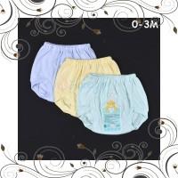 ID LIBBY 3 Pcs Celana Pop Bayi Baby Warna 0-3M Perlengkapan Bayi Bawah