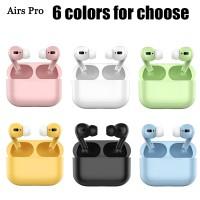 Earphone Tws Bluetooth Desain Macaron Untuk Airpods Pro 12 I12 I11