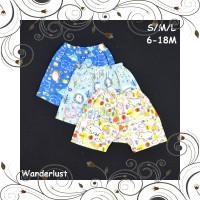 ID LIBBY 3 Pcs Celana Pendek Bayi Baby Motif S M L 6-9 9-12 12-18M Per