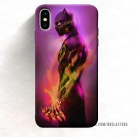 Casing HP iPhone Xs Max 7 Plus black panther (12) 11 Pro case