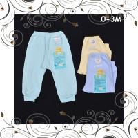 ID LIBBY 3 Pcs Celana Panjang Bayi Baby Warna 0-3M Perlengkapan Bayi B