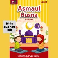 FLASH CARD Asmaul Husna Konsep Kartu Pintar Islam Mainan Edukasi Anak