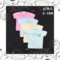 ID HAYAYO 1 Pcs Baju Lengan Pendek Bayi Baby Warna S M L 6-9 9-12 12-1