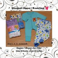 ID Sleepsuit Zipper resleting tangan dan kaki bisa di buka maupun ditu