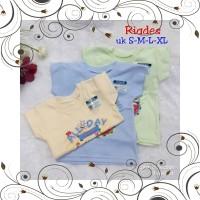 ID RIDGES - 3 PC Kaos bayi RIDGES WARNA
