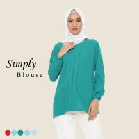 Blouse Wanita Hijab Fashion Muslim Polos Lengan Panjang AllSize Hijau