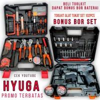 tool kit 102pcs full set palu tang kunci L obeng gergaji + bor HYUGA