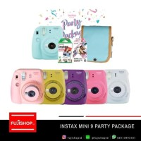 Fujifilm Instax Mini 9 Party Package - Flaminggo Pink