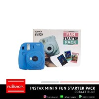 Fujifilm Fun Starter Pack Instax Mini 9 Instant Camera - Biru