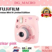 Fujifilm Instax Mini 9 Clear Pink - Kamera Polaroid - Limited Edition