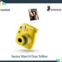 Instax Mini 9 Clear Yellow - Fujifilm Kamera Polaroid