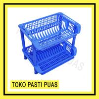 [KHUSUS GOJEK/GRAB] Rak Piring Plastik Susun 2 Sairyo Shinpo 837