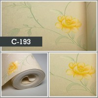 Wallpaper Sale Ready Shabby Kuning Soft Krem 53CM X 10M