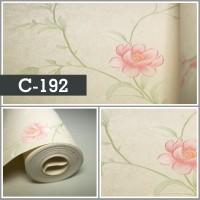Wallpaper Sale Ready Shabby Soft Pink Krem 53CM X 10M