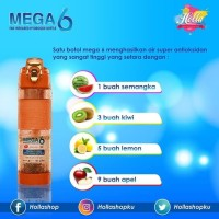 Paling Laku Botol Minum Mega 6 Far Infrared Hydrogen Water 600Ml