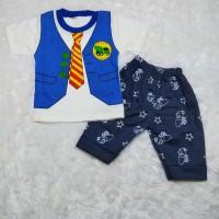 Setelan baju anak laki-laki usia 6-24 bulan gambar Rompi Mobil