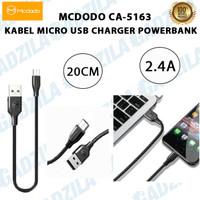 MCDODO CA-5163 KABEL CHARGER POWERBANK PENDEK 20CM MICRO USB CABLE
