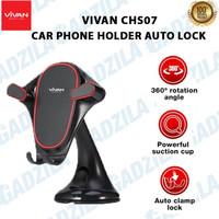 VIVAN CHS07 MOUNT CAR HOLDER HP MOBIL 360° ROTATE KUNCI OTOMATIS