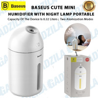 BASEUS CUTE MINI HUMIDIFIER WITH NIGHT LAMP PELEMBAB UDARA PORTABLE