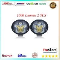 Lampu Tembak Motor LED High Beam 1000 Lumens 2 PCS