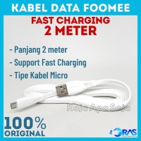 Foomee Kabel Data NS20 Fast Charging 2.1A Cable Data Micro USB 200CM