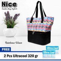 NEW-Nice Cooler Bag Stylish Tas Penyimpanan Asi Jinjing Free 2 Ice Gel