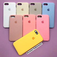 Premium Silicone Case iPhone 7 / 8 Softcase Polos Casing FULL COVER